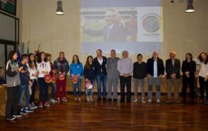 Panoramica premiati 2014 con ospiti e Presidente Jonny Moletta al centro